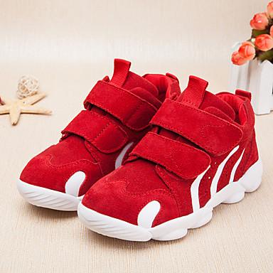 Unisexo Sapatos Camurça Outono Tênis para Preto / Vermelho