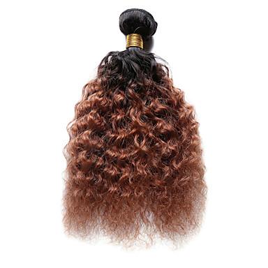 1 pakke Indisk hår Dyp Bølge Ekte hår Nyanse Nyanse Hårvever med menneskehår Hairextensions med menneskehår