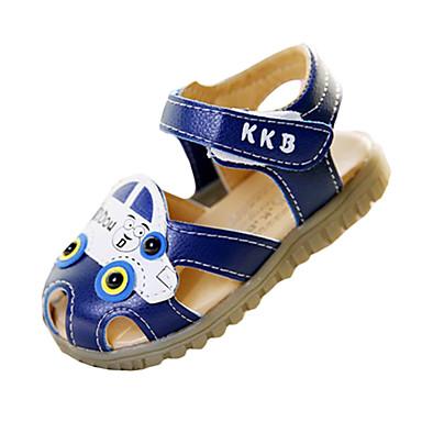 Sandaler-PU-Rund tå / Sandaler-Drenge-Blå / Hvid-Hverdag-Flad hæl