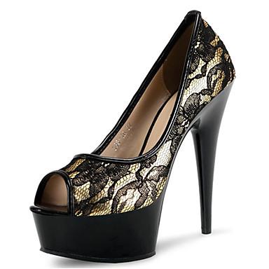 Damen Schuhe Vlies maßgeschneiderte Werkstoffe Frühling Sommer Club-Schuhe Leuchtende LED-Schuhe High Heels Stöckelabsatz Plattform