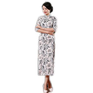 Badpak/Jurken Cosplay Lolitajurk Bloemen  Lange Lengte Voor Polyester
