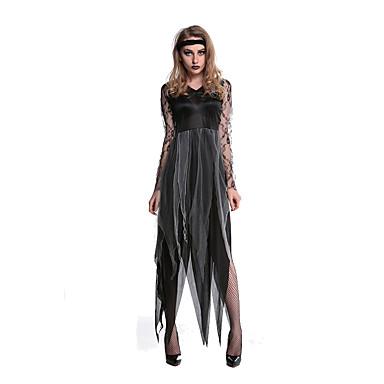 Vampieren Cosplay Kostuums Feestkostuum Vrouwelijk Halloween Festival/Feestdagen Halloweenkostuums Zwart Print