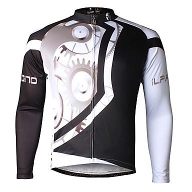 ILPALADINO Herre Langærmet Cykeltrøje Cykel Trøje, Hurtigtørrende, Ultraviolet Resistent, Åndbart