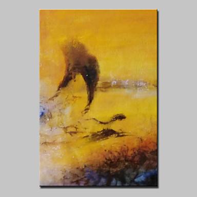 Hånd-malede Abstrakt / Abstrakt Landskab Oliemalerier,Moderne Et Panel Canvas Hang-Painted Oliemaleri For Hjem Dekoration