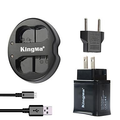 Kingma dual usb lader for nikon batteri og Nikon D7000 D7100 / 1v1 / d600 / d600e / D600 med usb adapter plugg strøm