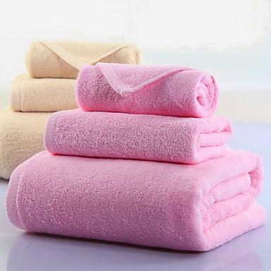 Badehåndklæde Sæt,Solid Høj kvalitet 100% Bomuld Håndklæde