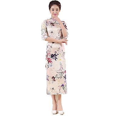 Einteilig/Kleid Cosplay Lolita Kleider Blumen Normallänge Zum Polyester