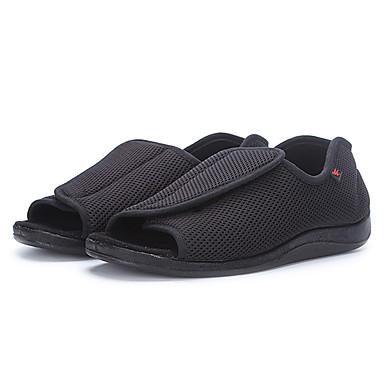 Masculino-Sandálias-Conforto-Rasteiro--Tule-Ar-Livre Casual