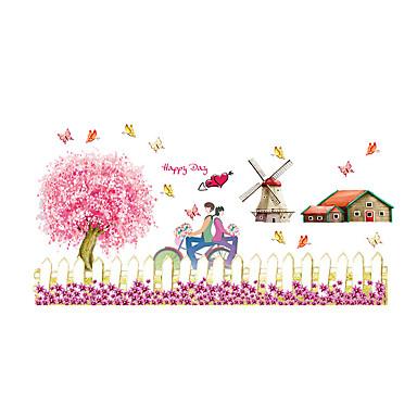 Dieren / Kerstmis / Bloemen Wall Stickers Vliegtuig Muurstickers Decoratieve Muurstickers,PVC MateriaalWasbaar / Verwijderbaar /