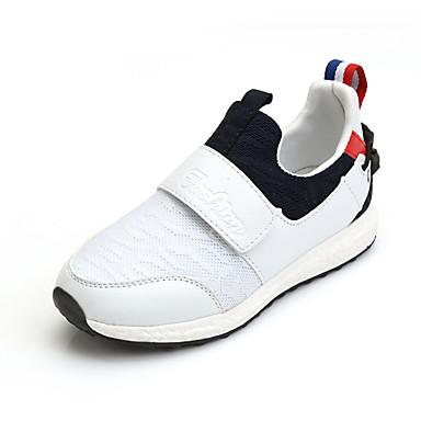 Pige Sneakers Komfort Tyl Forår Sommer Efterår Vinter Atletisk Tennis Flad hæl Hvid Sort Rød Flad