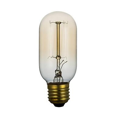 BriLight 1pc 40W E27 E26/E27 T45 Warmes Weiß 2300 K Glühbirne Vintage Edison Glühbirne Wechselstrom 220V Wechselstrom 220-240V V