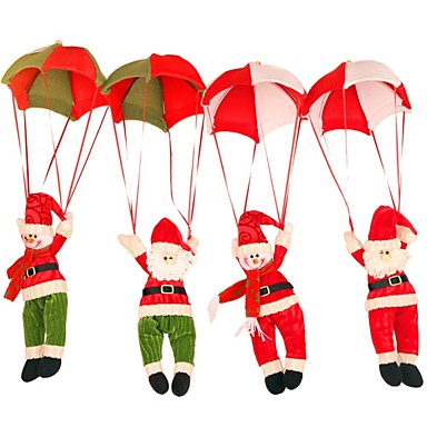 1pc Santa Verzierungen Weihnachten Party, Urlaubsdekoration Feiertags-Verzierungen