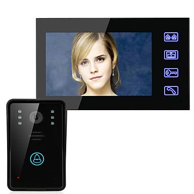 ennio 7 Video-Türsprechanlage Sprechanlage Türklingel Fern Touch-Taste Nachtsicht Sicherheit CCTV-Kamera entsperren