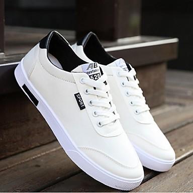 Heren Schoenen Canvas Kunstleer Zomer Comfortabel Platte schoenen voor Causaal Wit Blauw