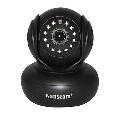 WANSCAM 1.0 MP Indendørs with Dag Nat Prime Dag Nat Bevægelsessensor Fjernadgang Plug and play) IP Camera