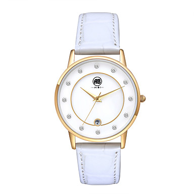 Mulheres Relógio Elegante / Relógio de Moda / Relógio de Pulso Mecânico - de dar corda manualmente Calendário / Impermeável Couro Legitimo