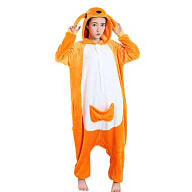 14490eaaf7 Adults  Kigurumi Pajamas Kangaroo Onesie Pajamas Polar Fleece Orange Cosplay  For Men and Women Animal