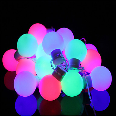 5 m Lysslynger 40 lysdioder Dyp Led Varm hvid Dæmpbar / Farveskiftende <5 V / IP44