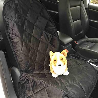Gato Cachorro Cobertura de Cadeira Automotiva Animais de Estimação Capachos e Alcochoadas Sólido Prova-de-Água Portátil DobrávelPreto