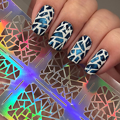 5 Diecut Manicure Stencil glitter Mode Daglig Høj kvalitet