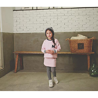 Uitgaan-Effen-Polyester-Winter / Herfst-Girl's-Trui & Vest-Roze