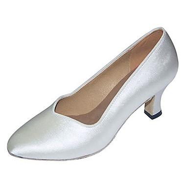 Dames Latin dansschoenen / Moderne dansschoenen Satijn Sandalen / Hakken Speciale hak Aanpasbaar Dansschoenen Wit / Voor Binnen