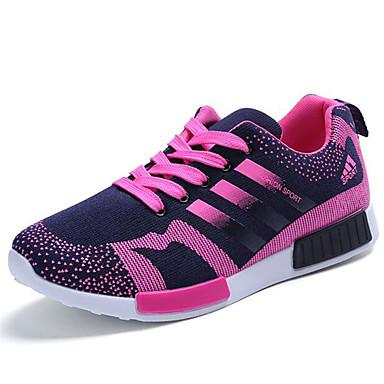 Sneakers-Kanvas-Komfort-Dame-Sort Blå Grøn Rød-Udendørs Fritid Sport-Flad hæl