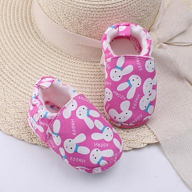 Para Meninas sapatos Algodão Outono Inverno Conforto Mocassins e Slip-Ons Estampa Animal Para Casual Pêssego Azul Khaki