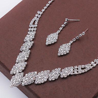 Mujer Cristal Conjunto de joyas - Moda Incluir Collar / pendientes Plata Para Boda / Fiesta