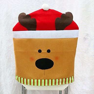 1pcs der neuen Ankunft Weihnachts Stuhlhussen 50 * 60cm Weihnachtsdekorationen navidad Adornos Abendessen Dekor Stuhl Geschenk-Sets