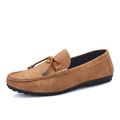 Heren Schoenen Kunstleer Lente Zomer Herfst Winter Comfortabel Loafers & Slip-Ons Voor Causaal Zwart Geel Bruin donkergrijs