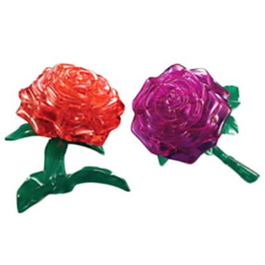 voordelige 3D-puzzels-Legpuzzels 3D-puzzels / Kristallen puzzels Bouw blokken DIY Toys roze ABS Zilver Modelbouw & constructiespeelgoed