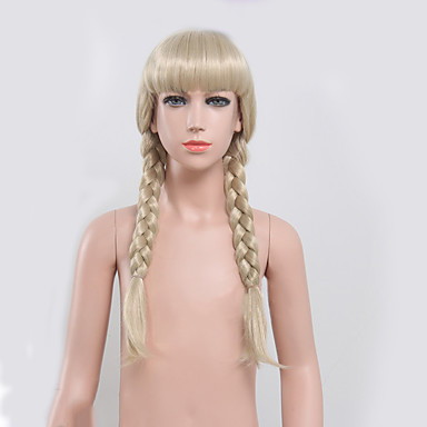 Cabelo Sintético perucas Ondulado Sem Touca Peruca de carnaval Peruca de Halloween preto peruca Médio Loiro