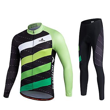 Miloto Homens Manga Longa Calça com Camisa para Ciclismo Moto Meia-calça Camisa/Roupas Para Esporte Conjuntos de Roupas, Tapete 3D,