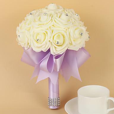 Bouquets de Noiva Buquês Casamento Festa / Noite Cetim Espuma 7.87