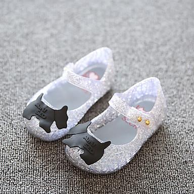 Meisjes Baby Platte schoenen PVC Lente Zomer Herfst Causaal Platte hak Zwart Zilver Roze Plat