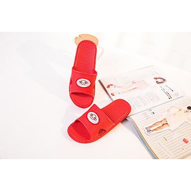 Unisex Sko PVC Sommer Komfort Tøfler & Klip Klapper Flade hæle for Afslappet Mørkeblå Grå Rosa Rød Grøn