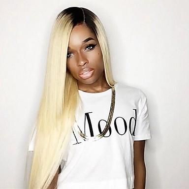2016 nye stil blonde farve syntetisk blonder foran paryk