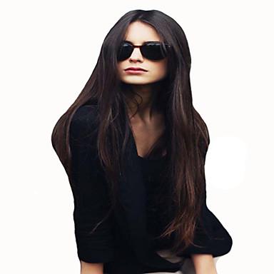 Synteettiset peruukit Suora Synteettiset hiukset Ruskea Peruukki Naisten Suojuksettomat