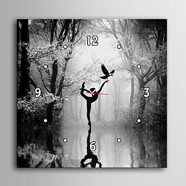 Zegar ścienny - Płótno - Modern / Contemporary - Kwadrat