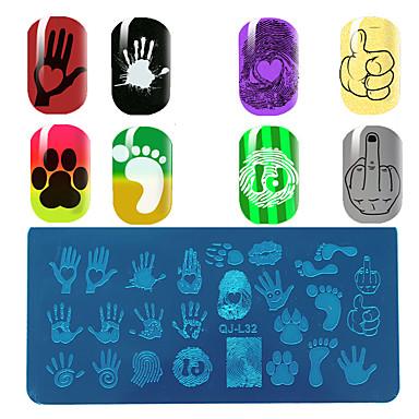 prego de palma impressão de mão padrão ferramenta de ferramentas de unhas uy