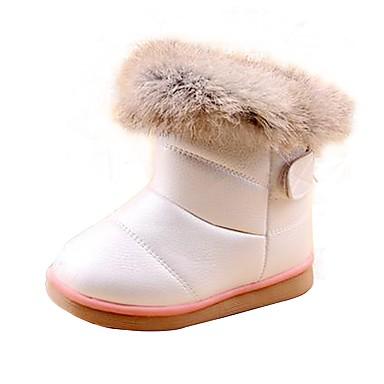 Chica Zapatos Piel / Semicuero Primavera / Otoño Confort / Botas de nieve Botas Paseo para Blanco / Rosa / Rosa / TR (Termoplástico)