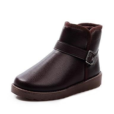 メンズ 靴 PUレザー 春 秋 冬 コンフォートシューズ スノーブーツ ブーツ 用途 カジュアル ブラック コーヒー