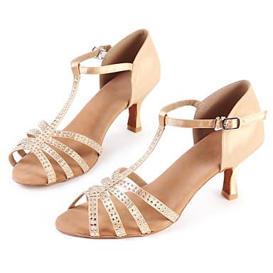 Moderno Baile De Satén Hebilla Mujer Jazz Latino Bajo Pedrería Zapatos Personalizables Sandalia Tacón kZuPXTOi