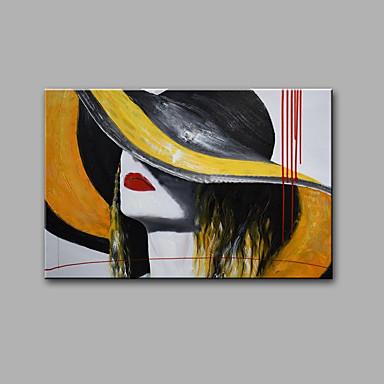 käsinmaalatut abstrakti / abstrakti muotokuva ripustettu öljymaalaus nykyaikainen yksi paneeli kangas öljymaalaus