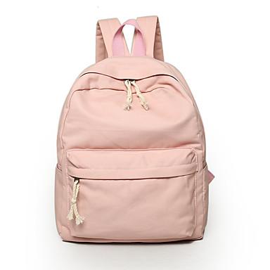 Mulheres Bolsas Lona mochila para Casual Ao ar livre Todas as Estações Cinzento Verde Azul Rosa claro Khaki