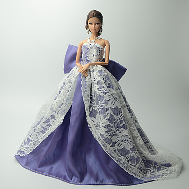 Party/Abends Kleider Für Barbie-Puppe Spitze Organza Kleid Für Mädchen Puppe Spielzeug