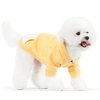 犬 ジャンプスーツ 犬用ウェア カジュアル/普段着 保温 ファッション 純色 イエロー