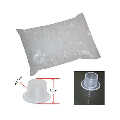 ソーントン入れ墨1000個mediunサイズ使い捨てプラスチックタトゥーインクカップタトゥーアクセサリー白の色tc102 - 4