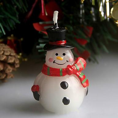 クリスマスの傷跡雪だるまのクリスマスイブキャンドル5センチメートルのスプーンの休日の装飾品